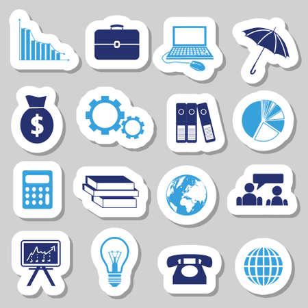 accountancy: economy stickers Illustration