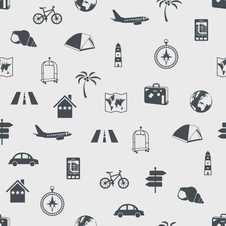 conch: seamless travel pattern Illustration