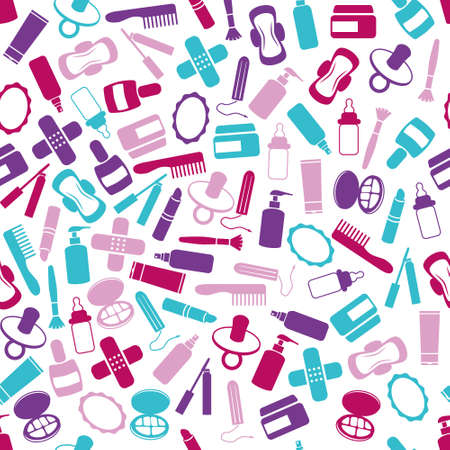 tampon: drugstore seamless pattern Illustration