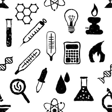 doodle seamless laboratory pattern Stock Vector - 18618710