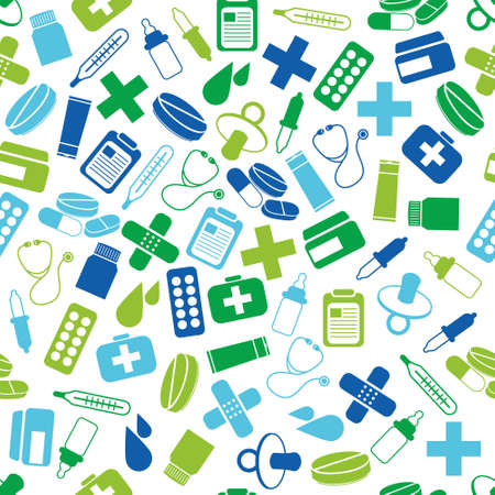 medicine icon: pharmacy seamless pattern