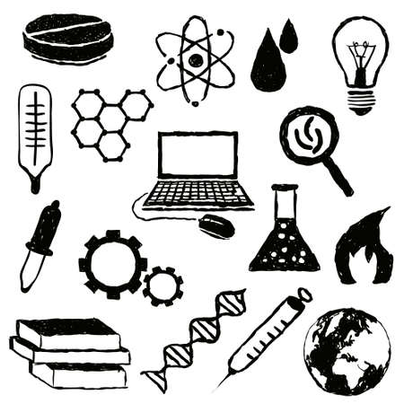 doodle science images Stock Vector - 18618707