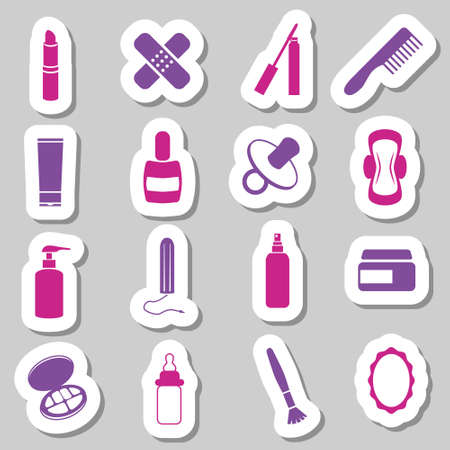 tampon: drugstore stickers Illustration