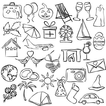 holiday and events sketch images Stock Vector - 18851244