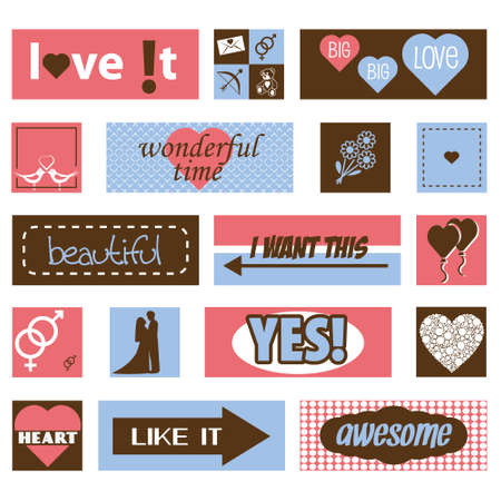 vintage love pictures and titles Vector