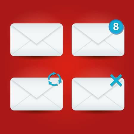 icônes e-mail