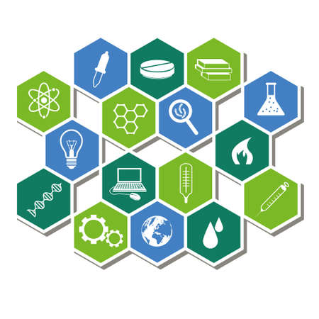 science icons Stock Vector - 19760783