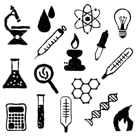 doodle laboratory images Stock Vector - 19986815