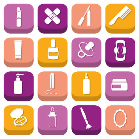 drugstore icons Stock Vector - 19987243