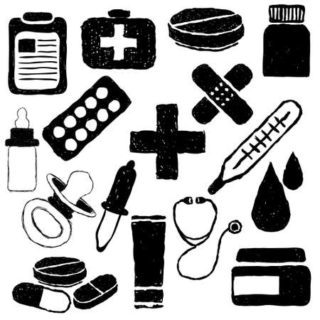 pharmacy doodle images Stock Vector - 19987255