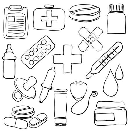 pharmacy sketch images Stock Vector - 19987244
