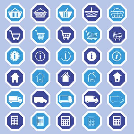 eshop: e-shop icons