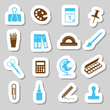 protractor: stationery stickers Illustration