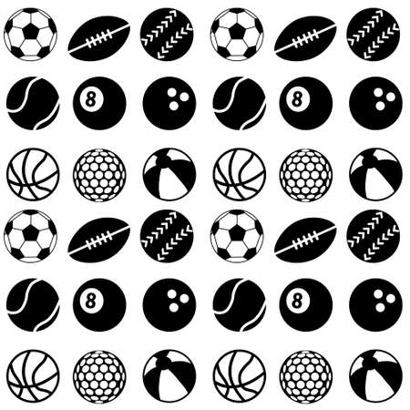 seamless ball pattern Vector