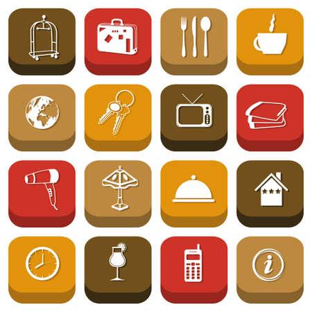 hospedaje: iconos de hotel