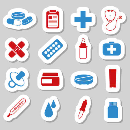medical cross: pharmacy stickers
