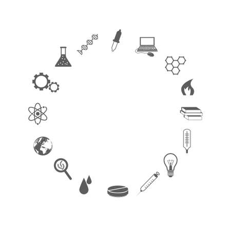 science icons Stock Vector - 20538487