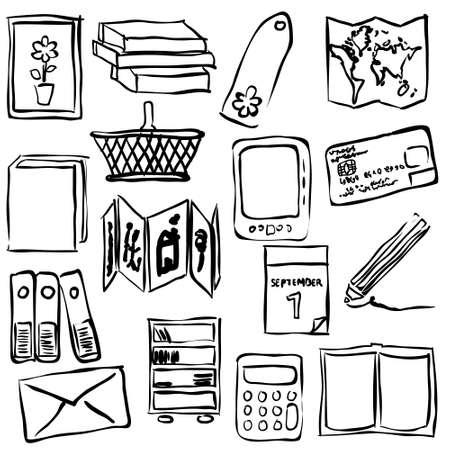 concertina: bookshop sketch images Illustration