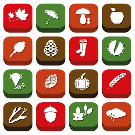 cloud ear fungus: autumn icons