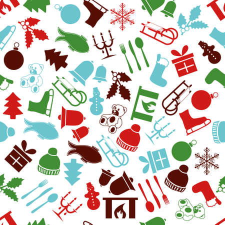 christmas seamless pattern Stock Vector - 21850922