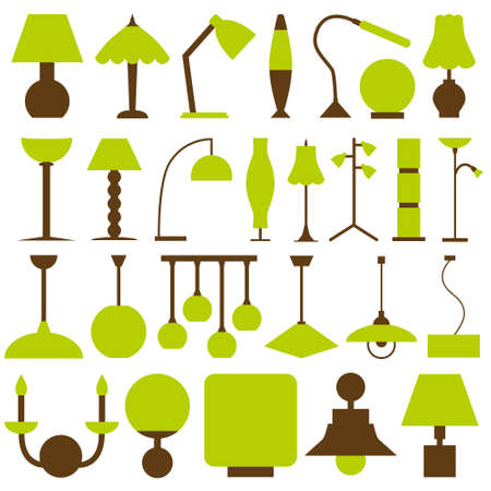 table lamp: lamp icons