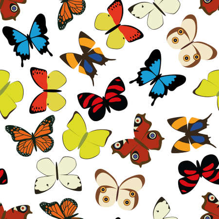 butterfly seamless pattern Vector