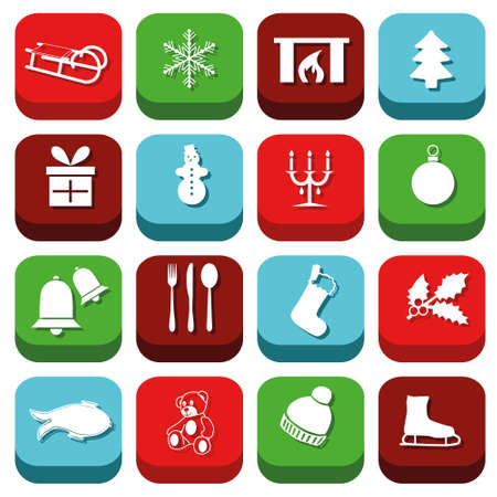 christmas icons Stock Vector - 21933970