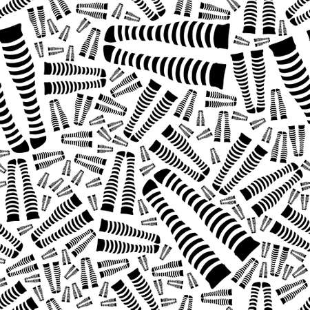 knee sock: knee-length socks seamless pattern Illustration
