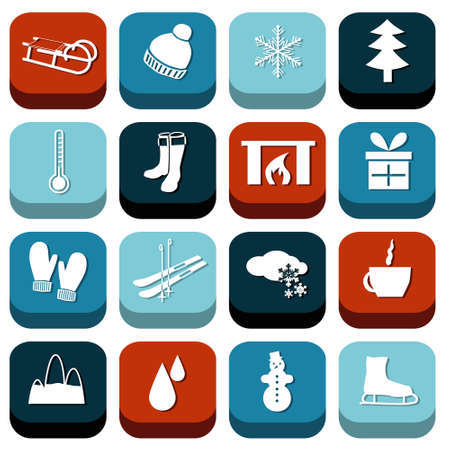 winter icons Stock Vector - 22510049