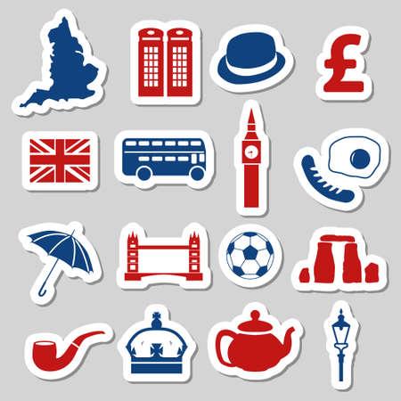england stickers Vector