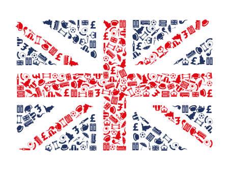 bus anglais: icônes angleterre Illustration