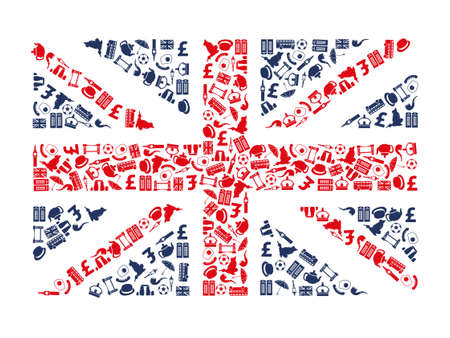 bandera de gran bretaña: iconos inglaterra