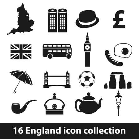 16 england icon collection Vector