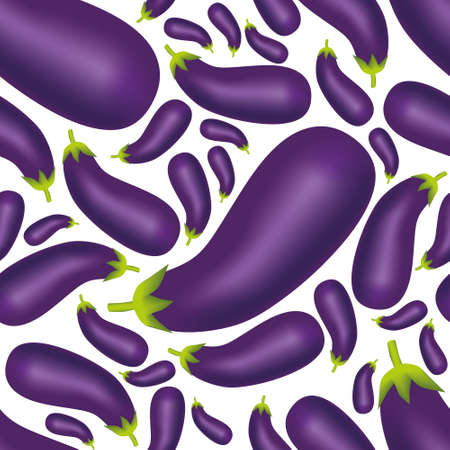 lila: seamless eggplant pattern