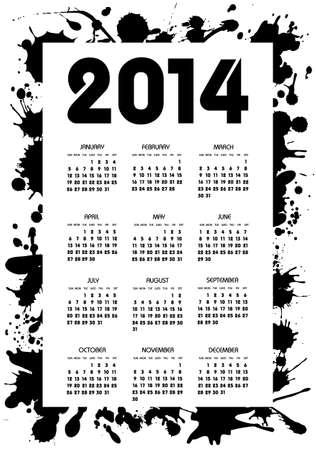calendar 2014 year Vector