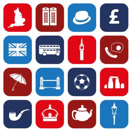 england icons Stock Vector - 23659131