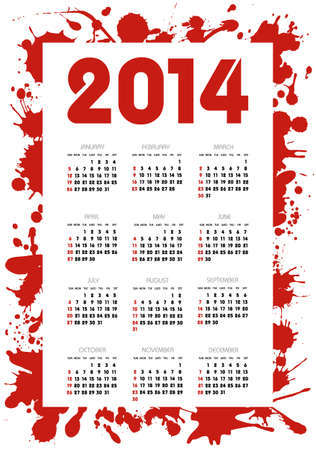 calendar 2014 year Stock Vector - 24057857