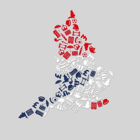 england icons Stock Vector - 24057858