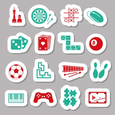 game stickers Vector