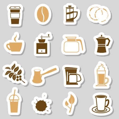 espresso machine: coffee stickers