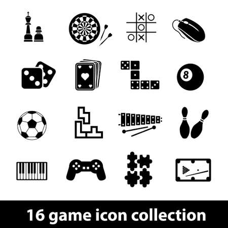 16 game icon collection Illustration