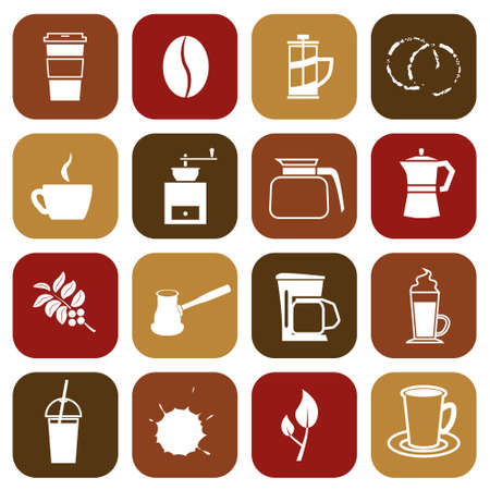 espresso machine: coffee icons