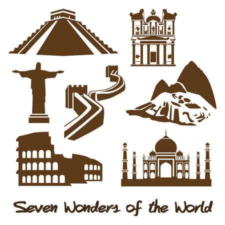 Sieben Weltwunder der Antike Standard-Bild - 25465135