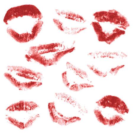 vector red lips Vector
