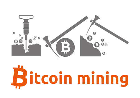 bitcoin mining Illustration