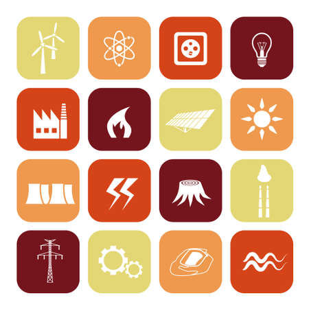 power point: energy icons