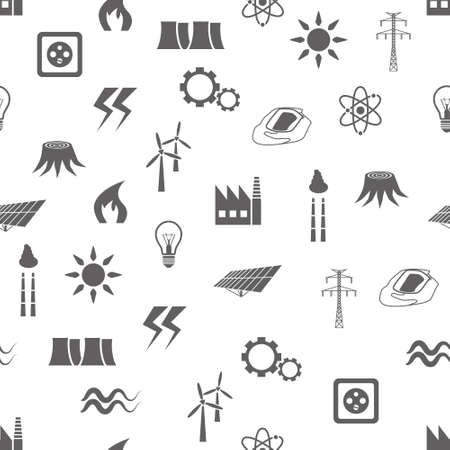 energy seamless pattern Vector