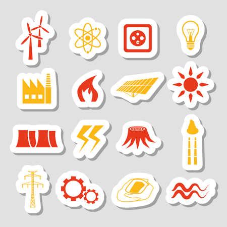 enchufe de luz: pegatinas de energía