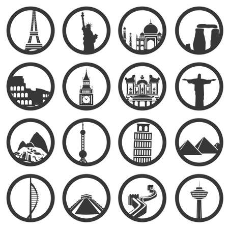 world buildings Vector