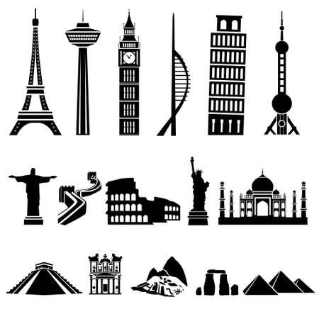 famous: 世界建築 向量圖像